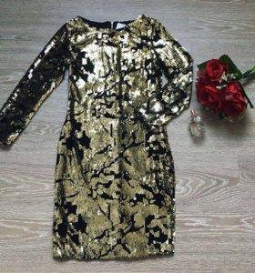 Платье новое⭐️Золото пайетки