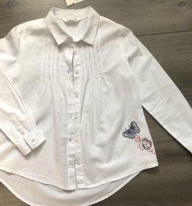 Детская новая блузка о.122-128