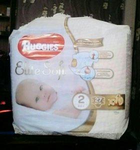 Памперсы HUGGIES Elite Soft 3-6 кг 27 штук