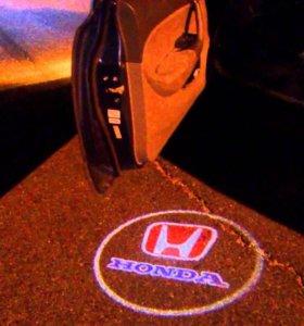 Проектор в двери на а/м хонда