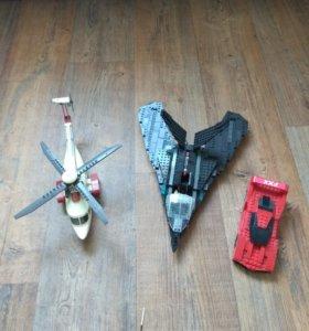 Лего вертолёт , истребитель , машина