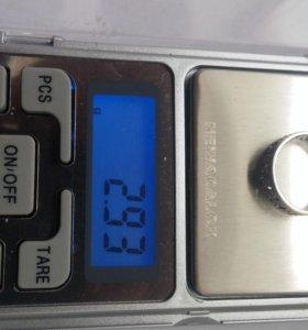 Колечко серебро, супер, 16 размер