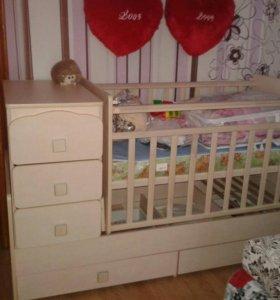 Продам детскую кровать трансформер