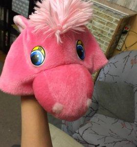 Розовая пони (шапка карнавальная)