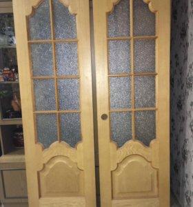 Продам натуральные двери шпон ясень