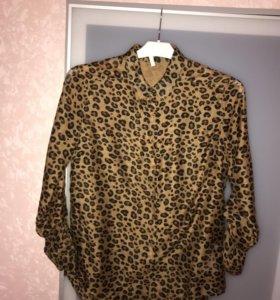 Леопардовая блуза Stradivarius