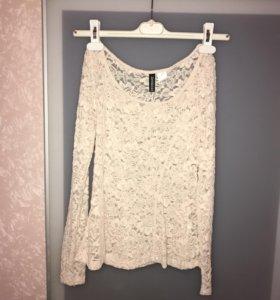 Ажурная блуза H&M