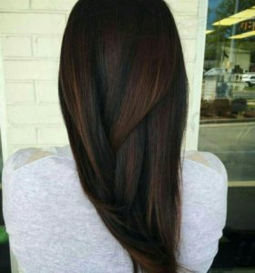 Волосы южно русские темный шоколад 48см 100пр