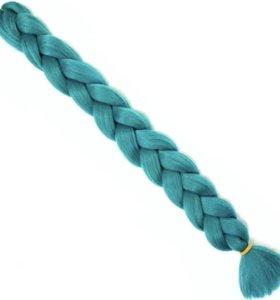 Канекалон (изумрудный/фиолетовый)