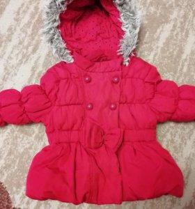 Демисезонная курточка для девочки р-р 74-80
