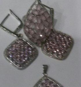 Набор украшений из серебра
