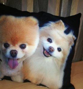 Очень милая, позитивная подарочная подушка