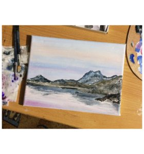 картина маслом «Горы»