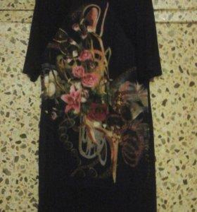 Крутое платье 3D 52р