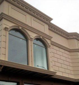 Утипление дома/ архитектурный декор/фасадный декор