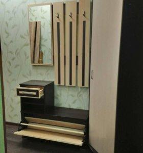 Прихожая Вешалка зеркало + угловой шкаф