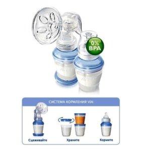 Молокоотсос Philips Avent Natural+Новые контейнеры