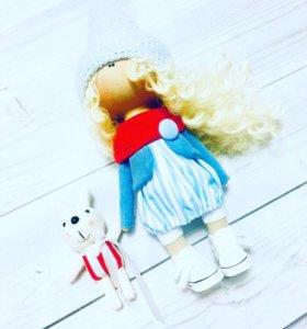 Интерьерная кукла ручной работы 26-28 см