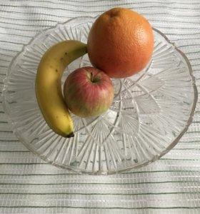 Подставка хрустальная на ножке для торта и фруктов