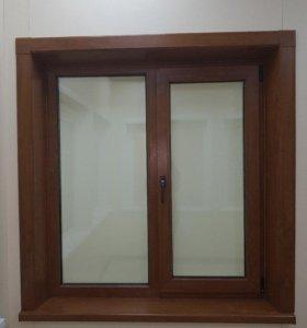 Пластиковое окно стандартное (1300х1400) 70мм