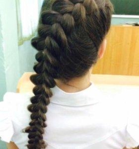 Прически, плетение кос, локоны, косички