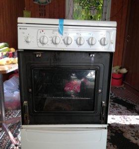 Газовая плита Indesit kg5408wms/r