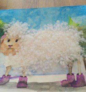 Рисунок овечка