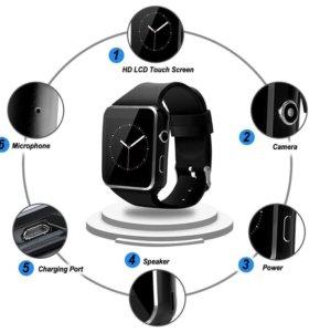 Спортивные Bluetooth Smart часы X6 изогнутые