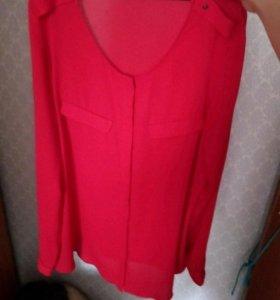 Шикарная красная блузка