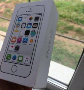 Коробка от айфона 5s silver