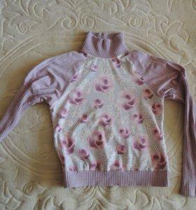 Водолазка серо -розовая 44 Производство Пеликан