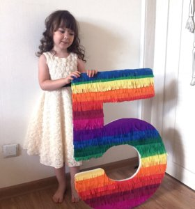 Цифра пять для праздника