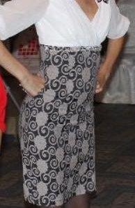 Платье вечернее, 40-42 размер, белое/серое