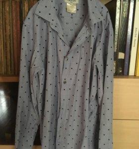 Рубашка Paul&Joe,Франция,новая,синяя,размерМ,175