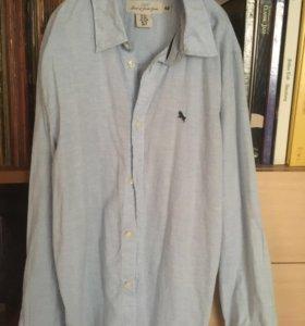 Рубашка H&М из Испании,хлопок,новая,голубаяМ170/88