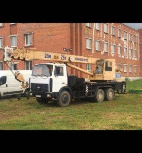 Автокран стрела 28 метров 25 тонн (Аренда)