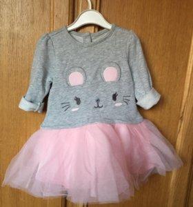 Платье новое нарядное для девочки на годик-полтора