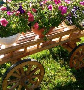 Продам декоративную садовую тележку