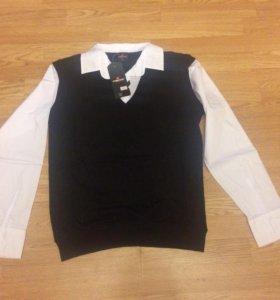 Кофта- рубашка обманка для школы
