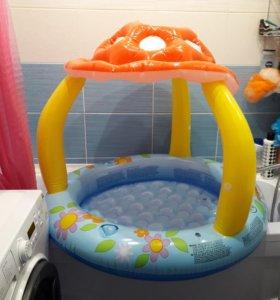 Детский бассейн мухомор intex