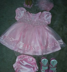 Красивое платье+туфли+корона