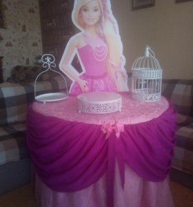 Кенди бар, стол принцесса барби