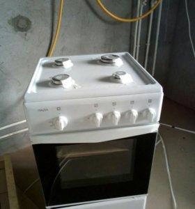 Плита газовая четырехгорелочная с духовым шкафом