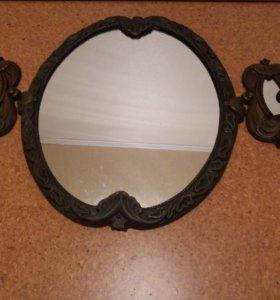 Зеркало с 2-мя подсвечниками (комплект)