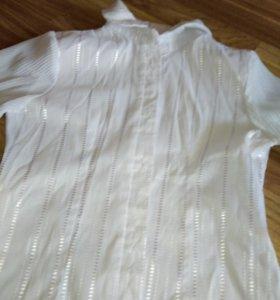 Блузка рубашка школьная на рост примерно 145