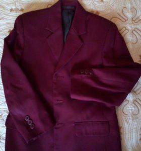 Пиджак бордо р.134