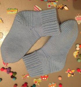 Вязаные носочки ручной работы на 27-28 размер