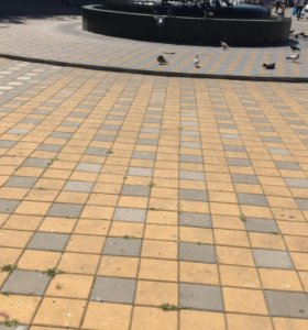 Разнорабочий на укладку тротуарной плитки