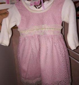 Платье на 3-6мес