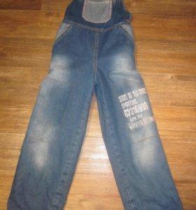 Комбинезон джинсовый на флисе